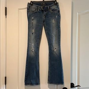 Like new, Silver boot cut jeans. Size W25 L31